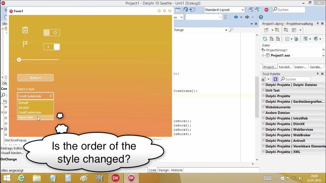 Tutorial: Adding a style (FireMonkey Delphi DX 10 Seattle) on Win, iOS