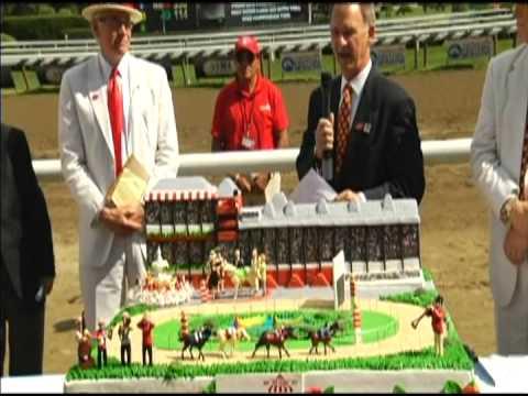 Saratoga 150 Birthday Cake Presentation