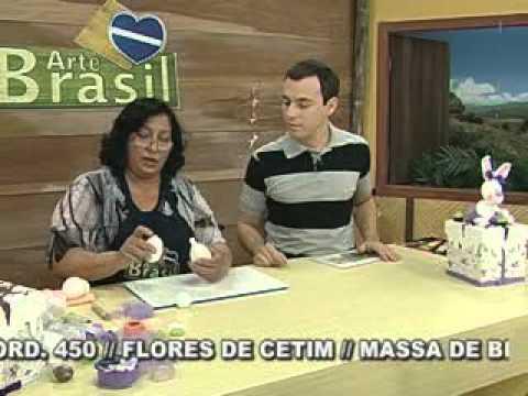 ARTE BRASIL -- ANGELA ROCHA -- COELHA EM BISCUIT (18/03/2011 - Parte 1 de 2)