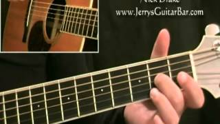 How To Play Nick Drake Pink Moon Intro Only