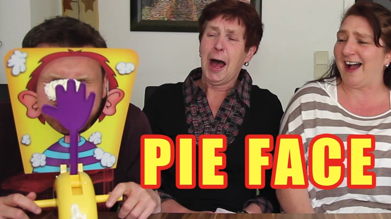 PIE FACE CHALLENGE!!! Messy Whipped Cream in the FACE Game ...