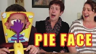 Family plays PIE FACE GAME