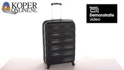 Travelz Big Bars Koffer 78cm Zwart