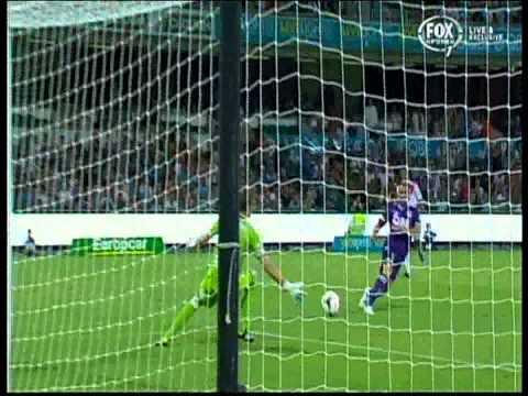 Shane Smeltz first goal Perth Glory Vs Melbourne Heart