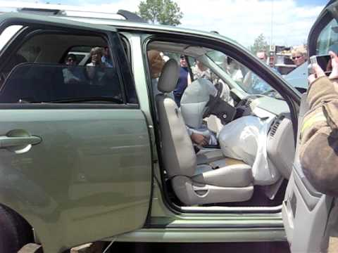 Ford Escape Passenger Seat Airbag Deployed Ron Moore Extrication Demo You