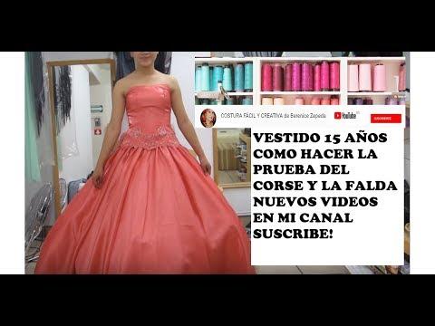 ed00d3998 COMO PROBAR UN CORSE Y FALDA CIRCULAR .parte 3 - YouTube