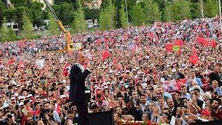 Muharrem İnce'nin Bursa mitinginde yer gök insan, olağanüstü kalabalık
