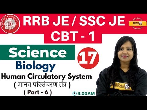 Class-17 ||#RRB JE/SSC JE/CBT-1 || Science || Biology| By Amrita Ma'am || Human Circulatory System