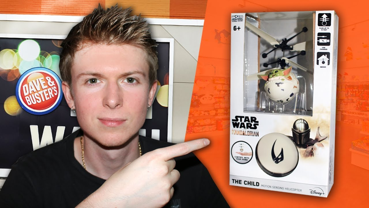 Can We Win It? - Baby Yoda Helicopter Toy! - Dave & Busters Arcade!!