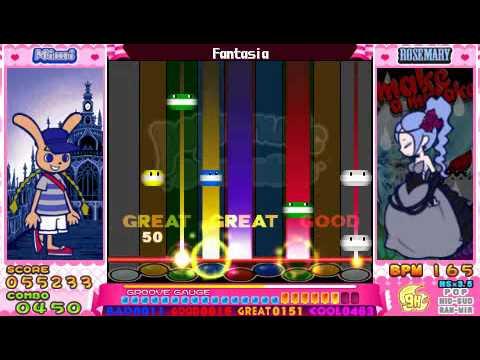 Pop'n Music Portable - HYPER FANTASIA [Fantasia] 9H CLEAR