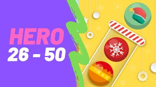 Bubble Sort Color Puzzle Game All Hero Levels 26-50 Walkthrough