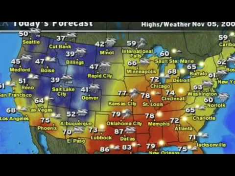 The weather forecast of U.S.A   YouTube