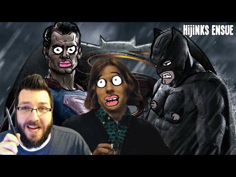Batman v Superman: Dawn Of Justice Trailer - Review & Reaction (Cartoonist Draws On Trailer!)