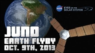 Juno Spacecraft Earth Flyby October 9th, 2013 - NASA Eyes on the Solar System
