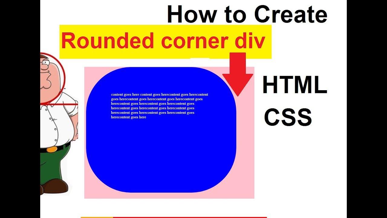 how to create radius css