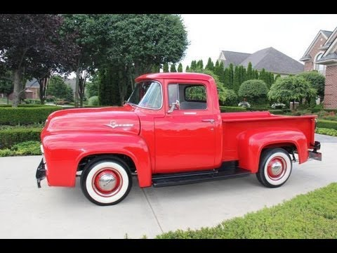 1956 ford f100 pickup classic muscle car for sale in mi for Ford truck motors for sale