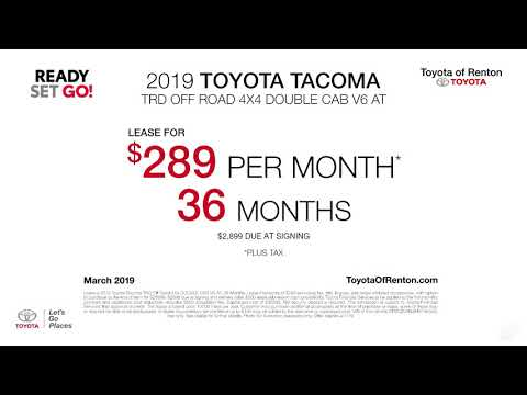 New 2019 Toyota Tacoma TRD Off Road 4X4 DOUBLE CAB V6 AT Lease Offer Toyota of Renton March SP