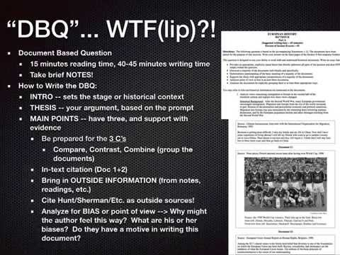 How to Write an AP European History DBQ Document Based