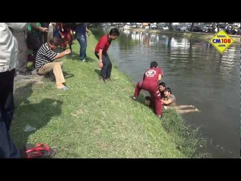 HD ตำรวจรับแจ้งคนตายลอยน้ำ คูเมือง เชียงใหม่