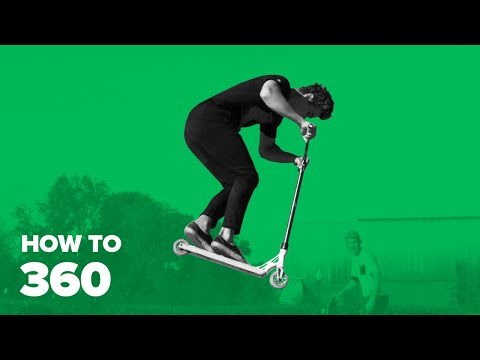 Как сделать 360 на самокате (How to 360 on a scooter)