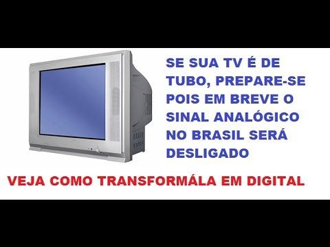 TV de Tubo com Sinal Digital HDTV (como instalar um