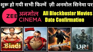 Zee Anmol Cinema Started Blockbuster Movies Premiere Daily Date & Timing Confirm 🔥 Dd Free Dish