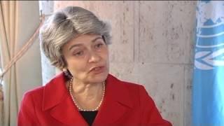 euronews interview - Entretien avec Irina Bokova, directrice générale de l