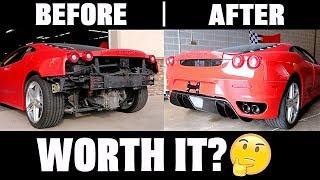 Cost To Rebuild My Crashed Ferrari... (Mistake?)
