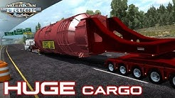 NEW!! HUGE OVERSIZE CARGO   DOLL VARIO 12 AXLE   AMERICAN TRUCK SIMULATOR