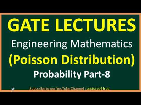 Probability Part-8 || Poisson Distribution || Gate Lectues for Engineering mathematics