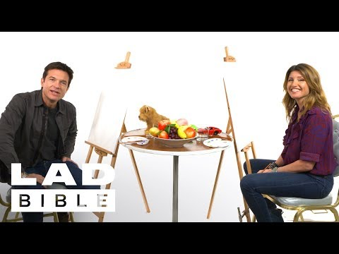 Game Night's Sharon Horgan And Jason Bateman Paint Each Other And Talk About Seeing Each Other Naked