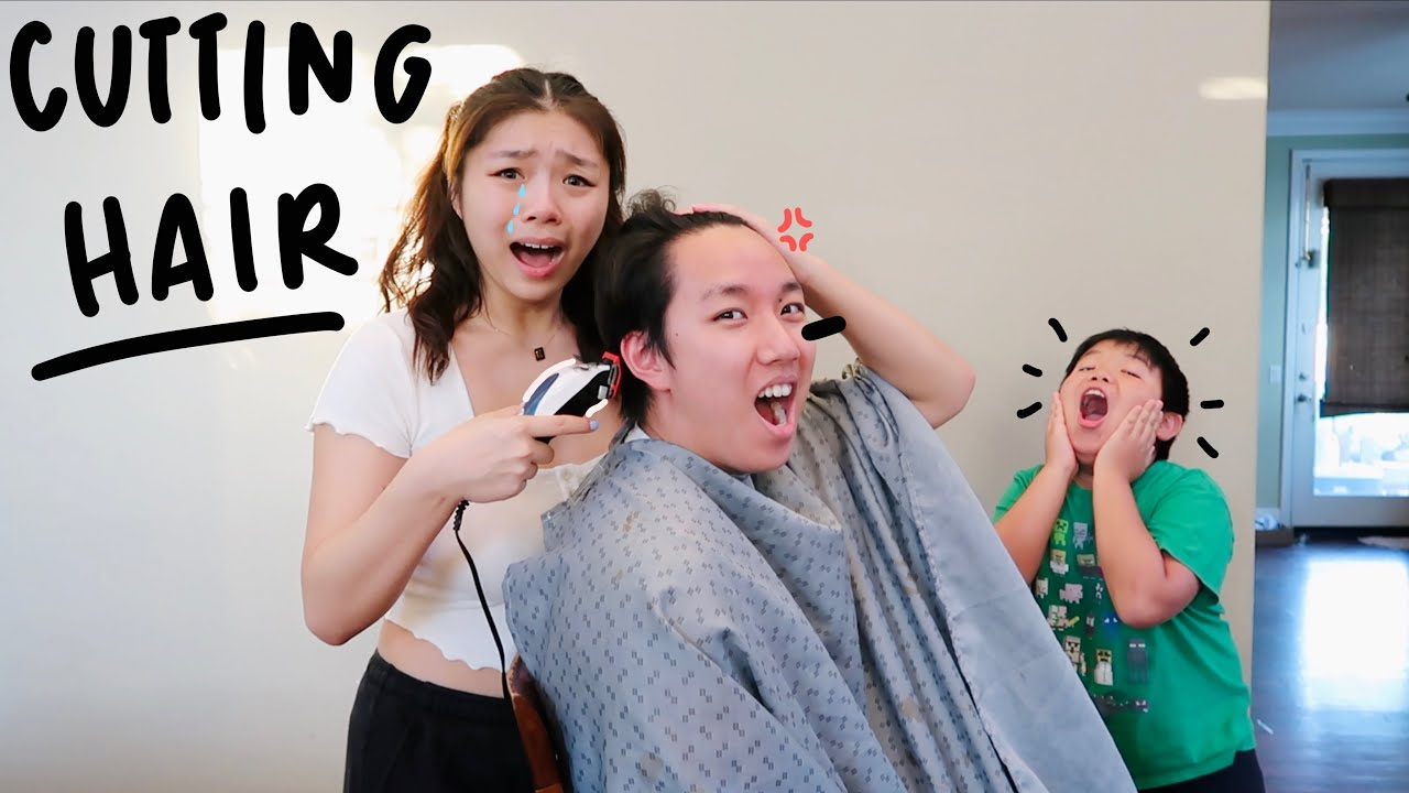 CUTTING HAIR FOR THE FIRST TIME (we were shocked)