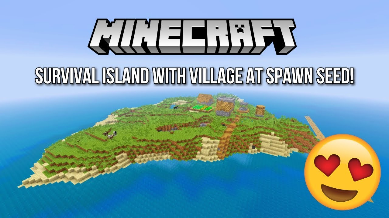 Minecraft Console Survival Island With Village At Spawn Minecraft Ps4 Xbox One Ps3 Xbox 360 Youtube