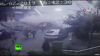 CCTV: Moment Istanbul apartment building falls in deadly collapse