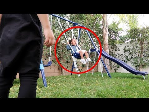 Did a ghost push her on the swing? (help)