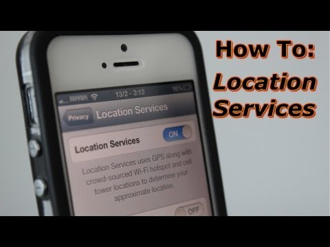 How To Use And Turn On Location Services iPhone - Locations Settings