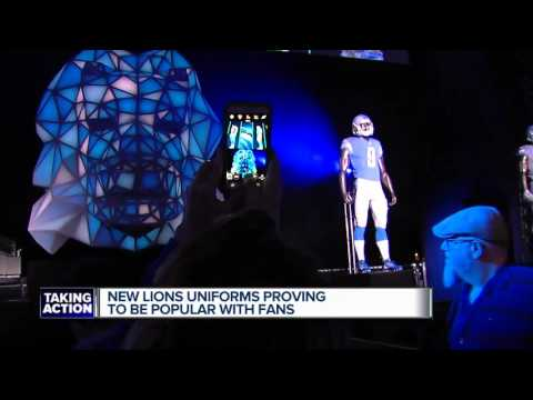 New Lions jerseys have become some of the most popular in the NFL