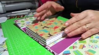 Tutorial:  Rilegature dell' album scrapbook / Rilegatura 2 /Christmas zig zag  accordeon album