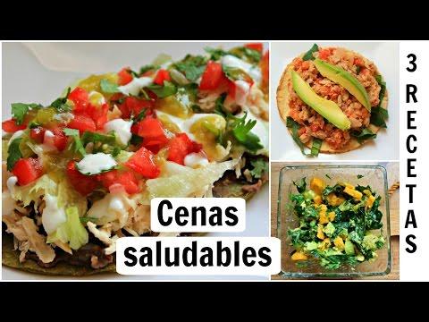Cenas rápidas y saludables: 3 RECETAS saladas