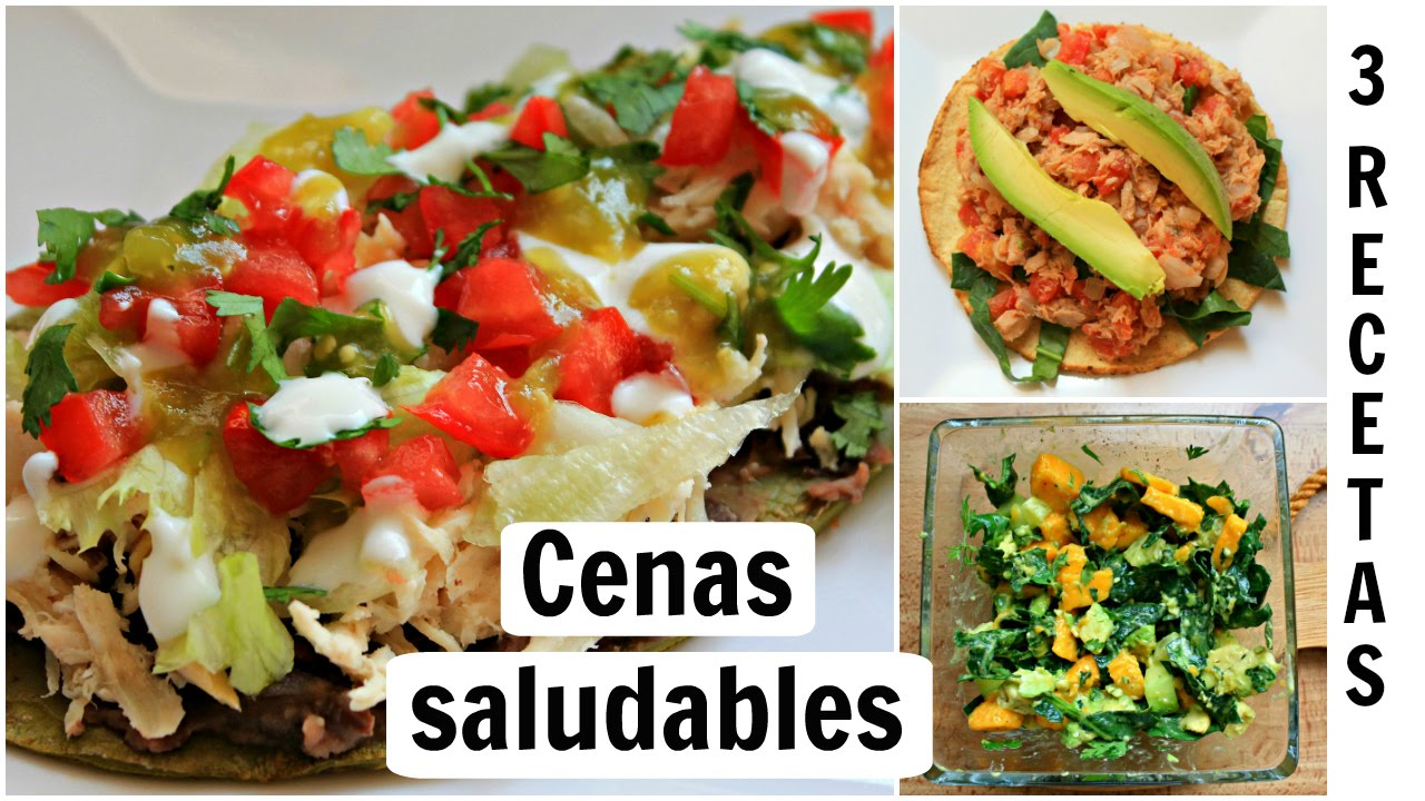 Cenas r pidas y saludables 3 recetas saladas youtube for Comidas faciles y saludables