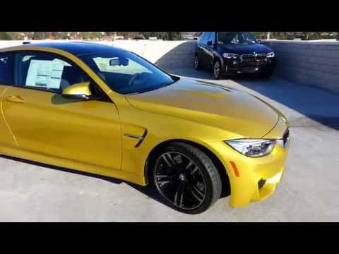 NEW BMW M4 IN AUSTIN YELLOW W/ 19 INCH BLACK WHEEL Car Review