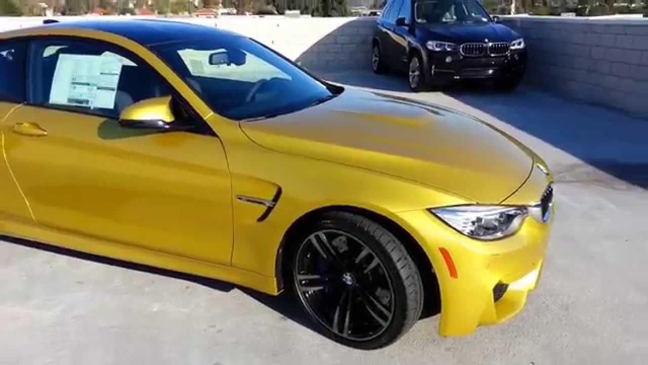 New Bmw M4 In Austin Yellow W 19 Inch Black Wheel Car Review