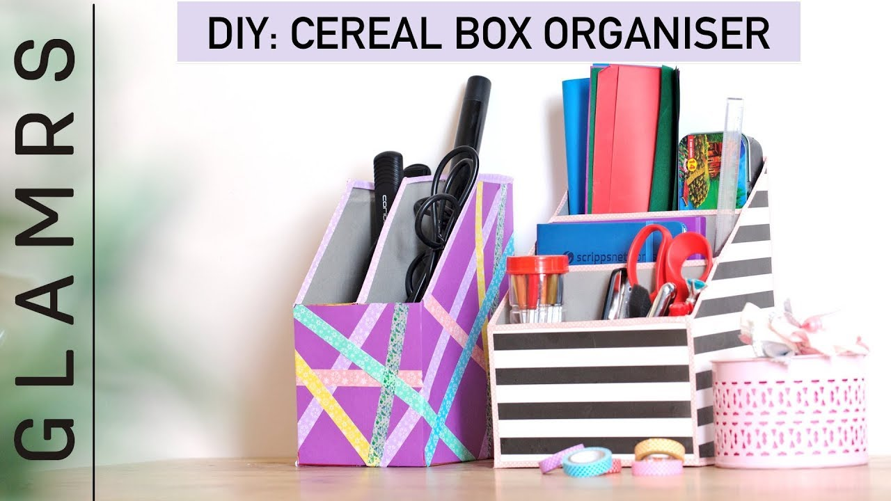 Diy Cereal Box Organizer Quick Easy Tutorial Best Out Of Waste
