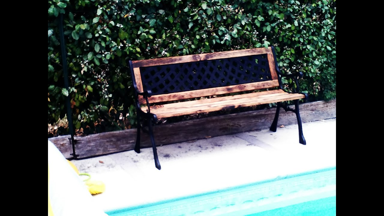 5 How I Rebuild A Broken Cast Iron Wood Bench Repar