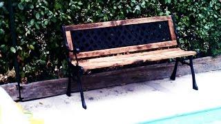 5-how I Rebuild Of A Broken Cast Iron/wood Bench / Repar