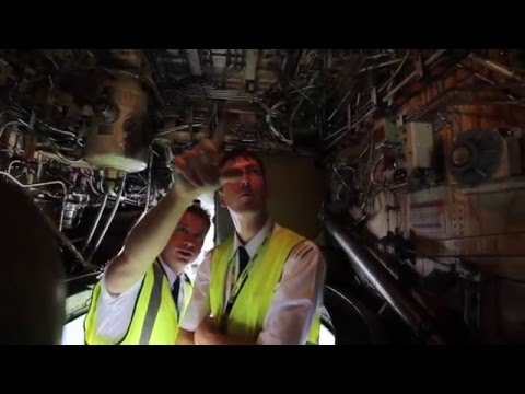 airBaltic Boeing 737 external check by our pilots (part 6 of 6 - Main Wheel Well)
