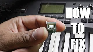 how To Repair A Faulty Midi Keyboard's USB B ( 2.0 ) Connector