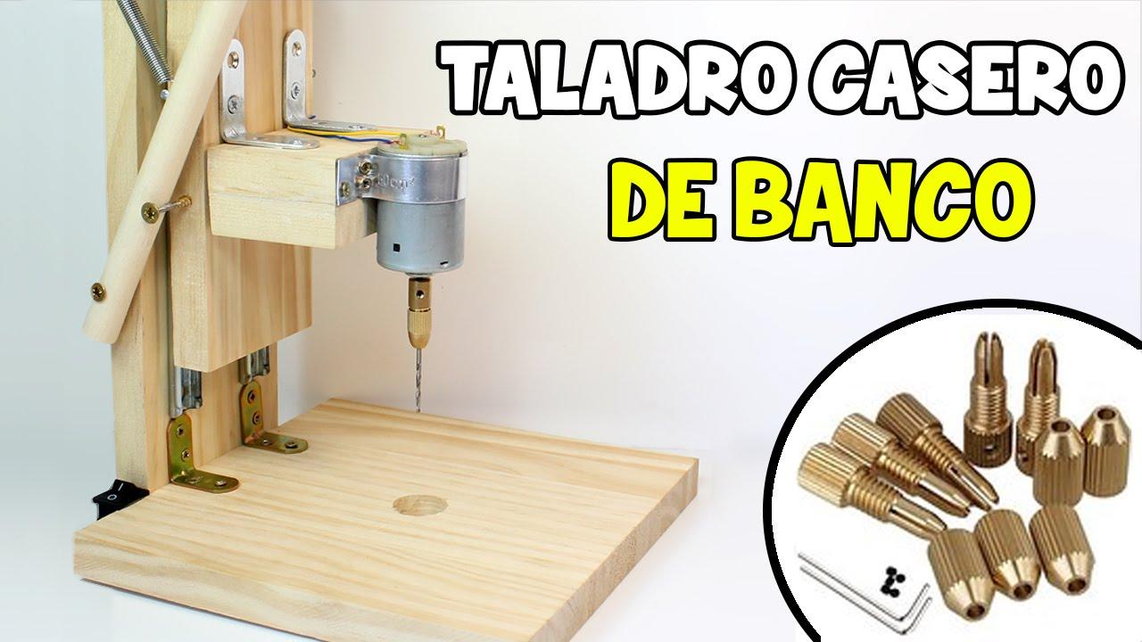 C mo hacer un taladro casero de banco mini taladro - Sierra para taladro ...
