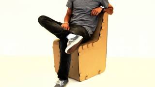 The Cardboard Guys Corrugated Chair