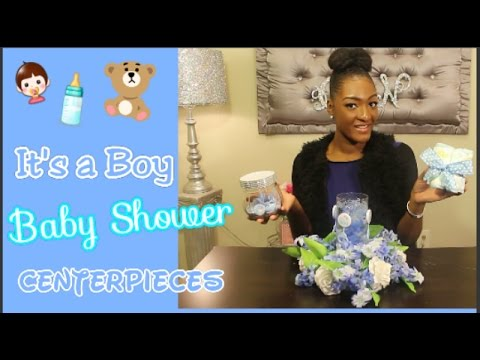 Diy Dollar Tree Its A Boy Baby Shower Centerpieces Diaper